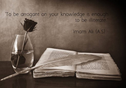 To be arrogant on your knowledge