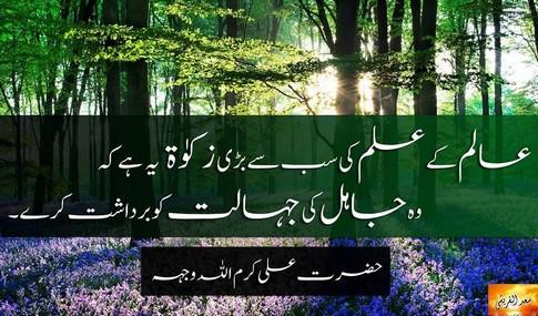 Aalim kay ilm ki sab say bari zakaat