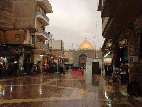 Rain in Najaf