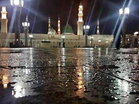 Rain in madina
