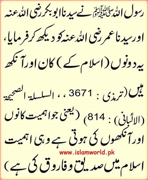 Islam kay kaan aur aankh